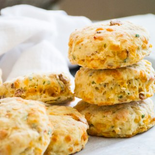Cheddar Bacon Scones with Apple & Chives