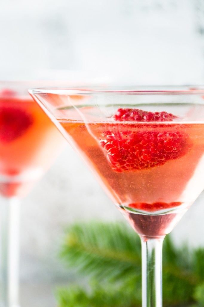 Raspberry Elderflower Martini
