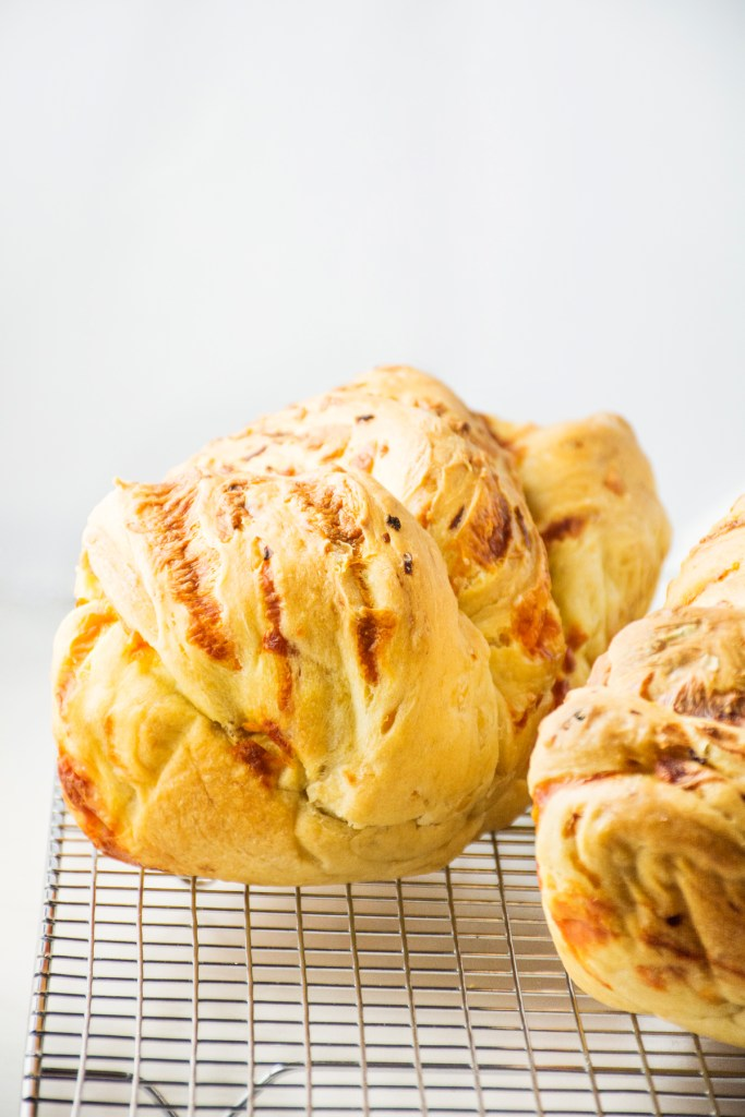 Caramelized Onion & Cheddar Bread