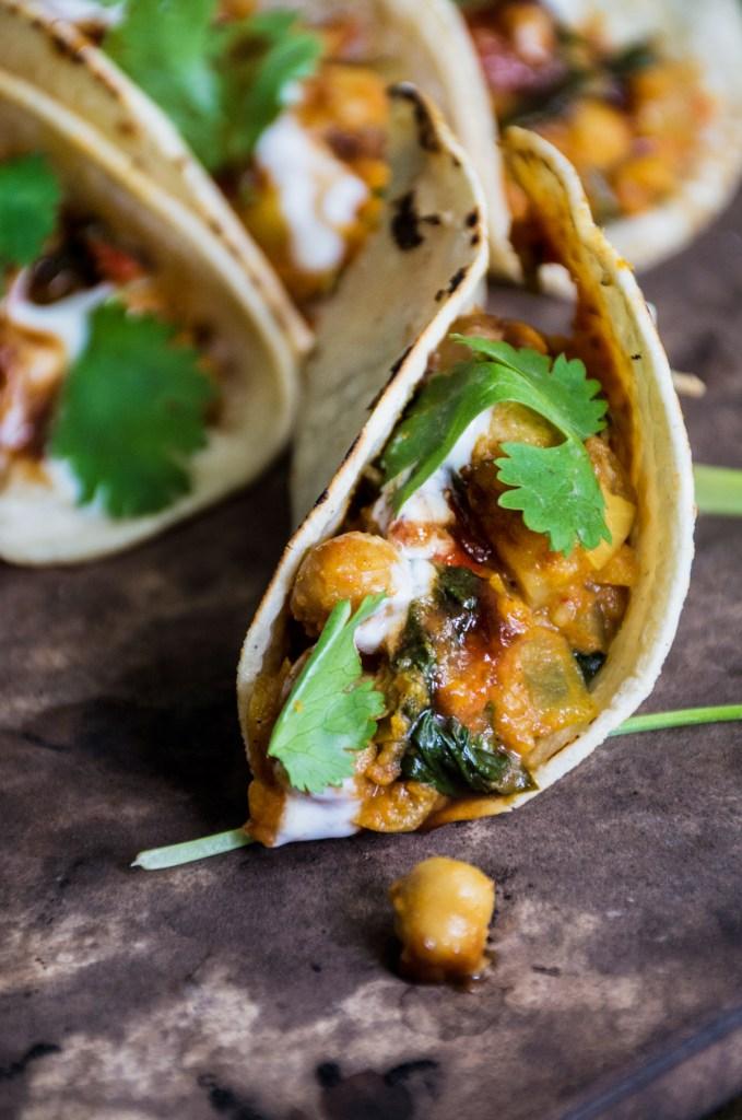 "Vegetarian Chana Masala ""Tacos"""