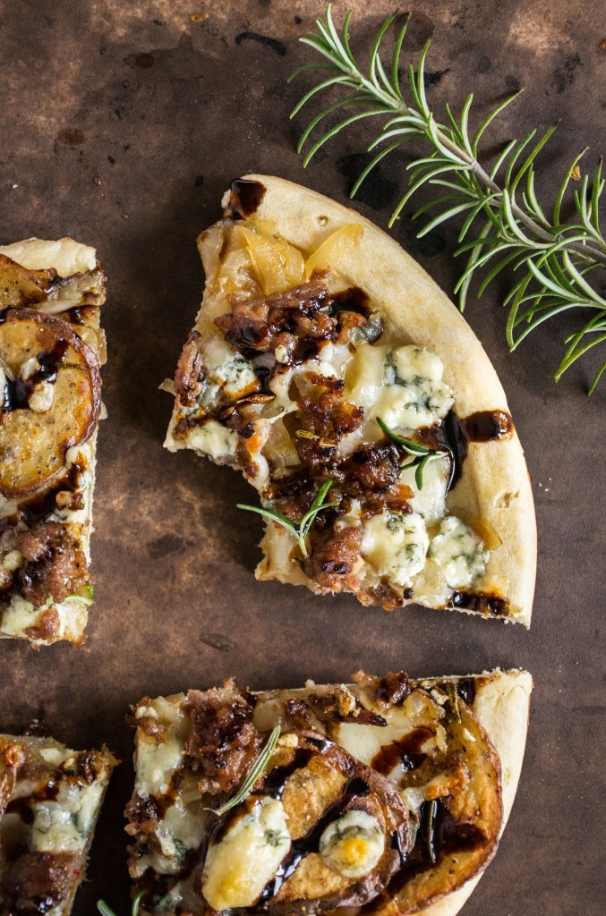 Potato, Caramelized Onion & Gorgonzola Pizza