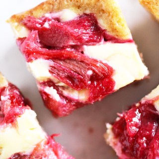 Rhubarb Cream Cheese Marble Cake