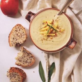 Roasted Cauliflower & Apple Soup
