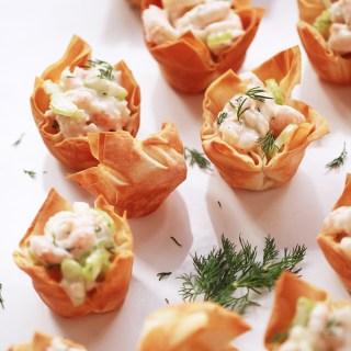 Shrimp Salad Phyllo Bites