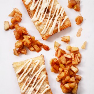 "Apple Cinnamon Puff Pastry ""Pop Tarts"" with Cream Cheese Frosting"