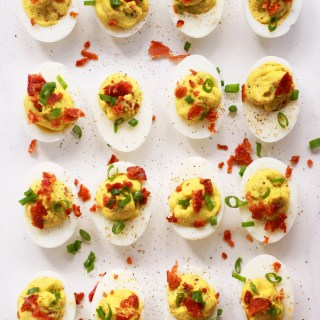 Avocado & Bacon Deviled Eggs (Green Eggs & Ham)