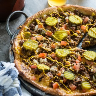 Gratuitous Cheeseburger Pizza