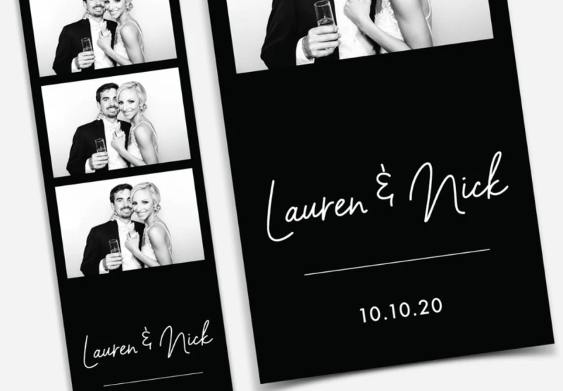 photo template wedding black and white