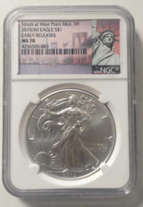 sell graded silver eagles boston