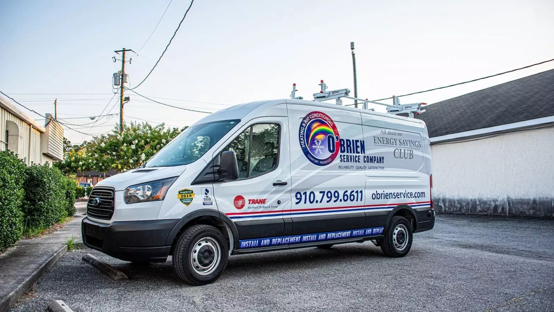 O'Brien Heating & Cooling truck wrap