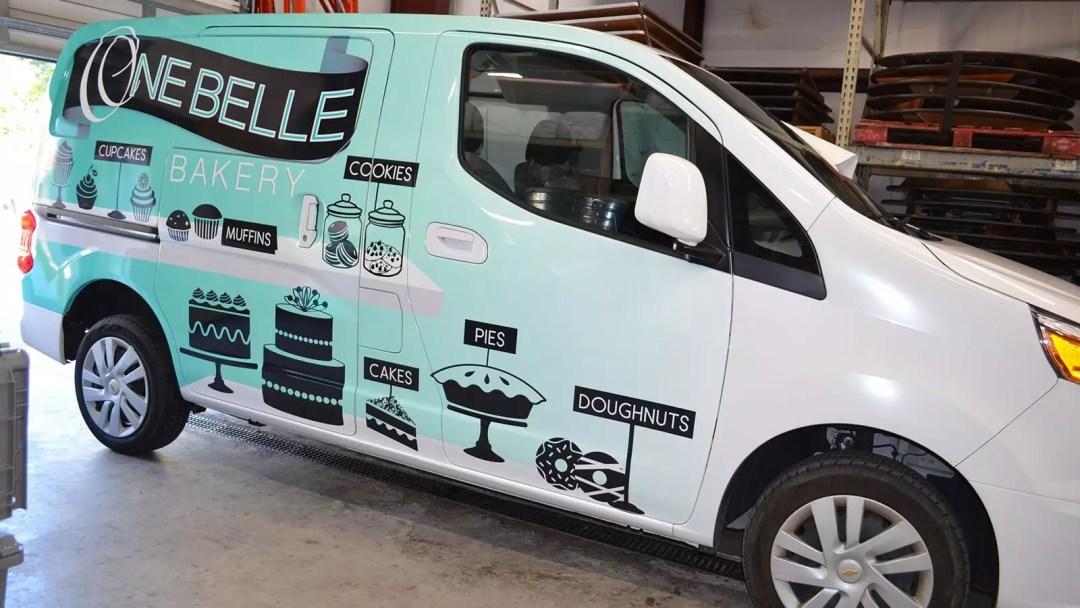 One Belle Bakery van full wrap