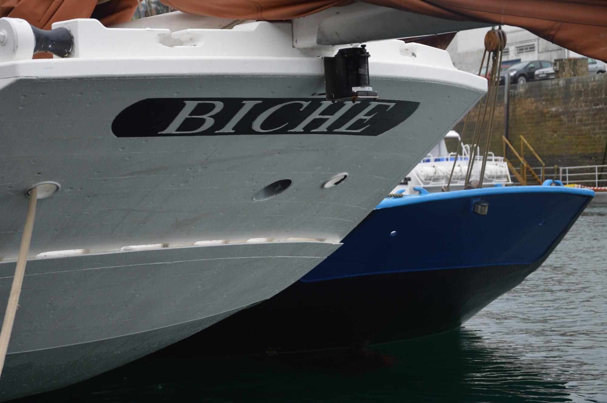 "Le thonier ""Biche"" : transport à la voile breton"