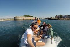 Départ en bateau de Concarneau pour rejoindre les Glénan