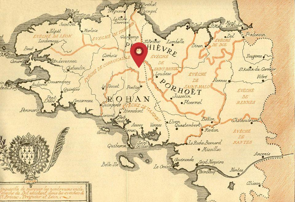 Localisation de Guerlédan - Carte Bretagne