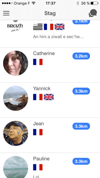 Stag, l'application pour géolocaliser ses copains bretons