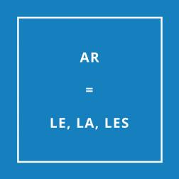Traduction bretonne : AR = LE, LA, LES