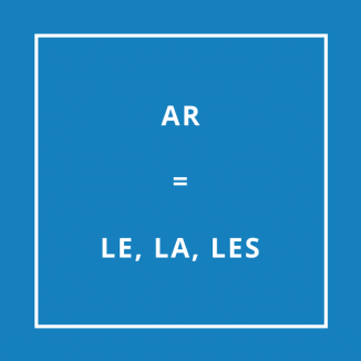 Traduction bretonne : AR = LE, LA, LES