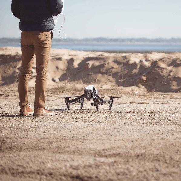 Drone-move paré au décollage