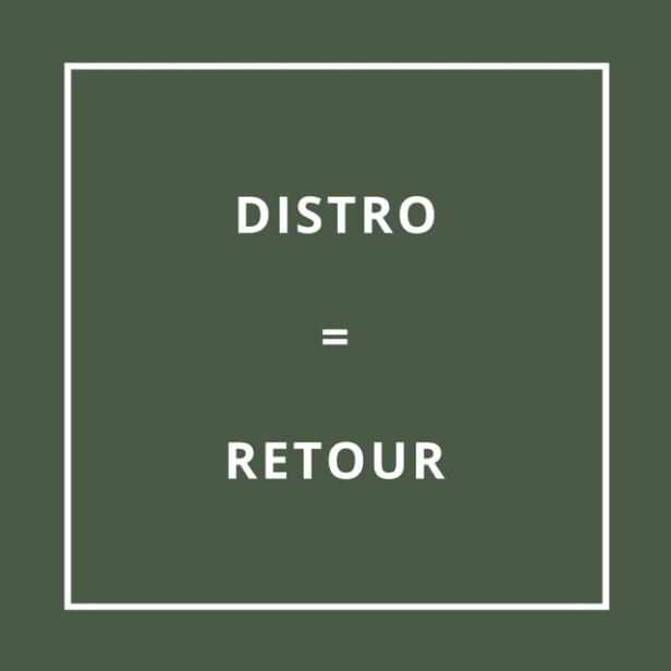 Traduction bretonne : DISTRO = RETOUR