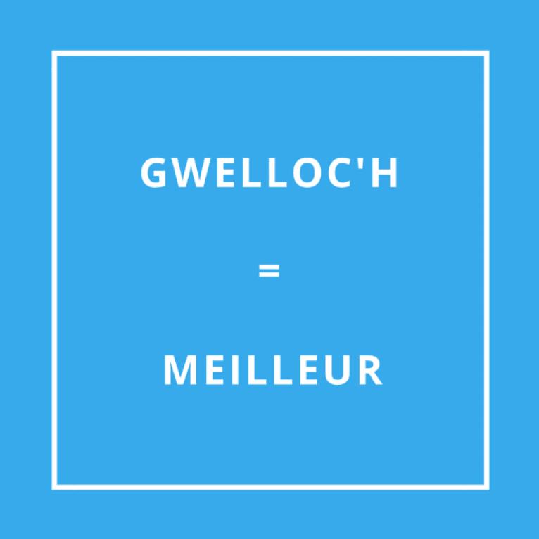 Traduction bretonne : GWELLOC'H = MEILLEUR