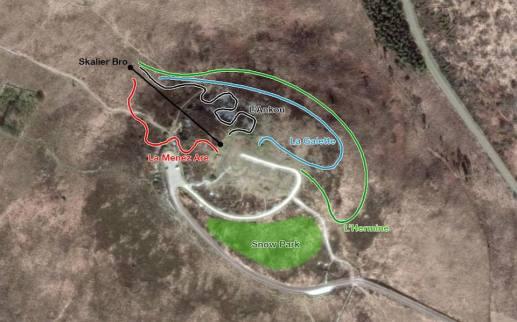 Plan de la station Menez Are 400