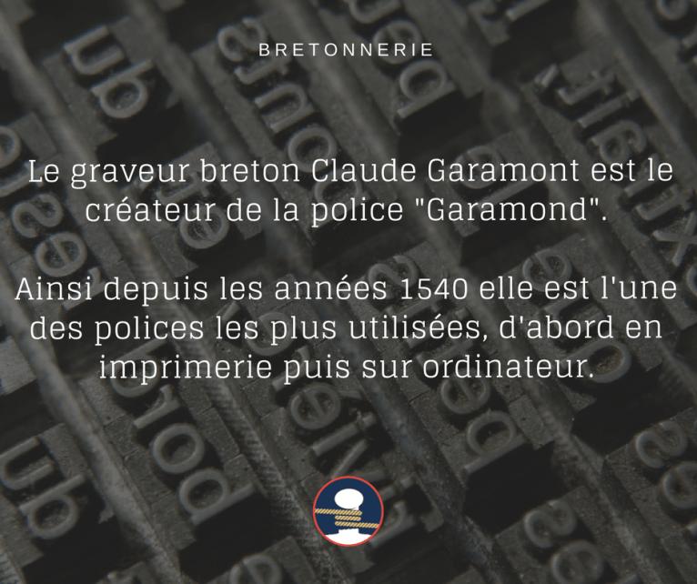 Le graveur Claude Garamont à créé la police Garamond