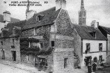 Carte postale ancienne représentant la boulangerie Penven à Pont-Aven dans le Finistère Sud