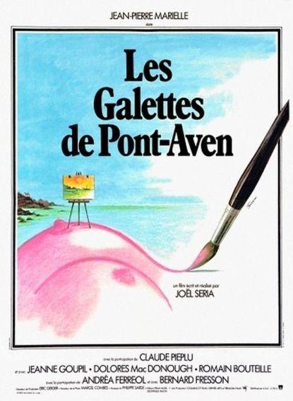 """Affiche du film """"Les Galettes de Pont-Aven"""" de Joël Séria avec Jean-Pierre-Marielle, 1975"""