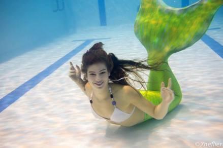 La vannetaise comme un poisson dans l'eau !