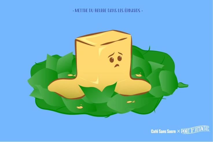 Du beurre dans les épinards