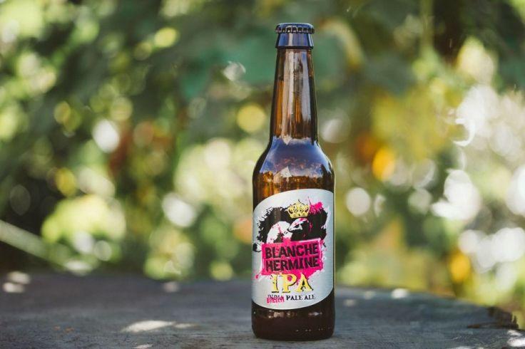 La Blanche hermine IPA: vive la bière et l'ajonc !