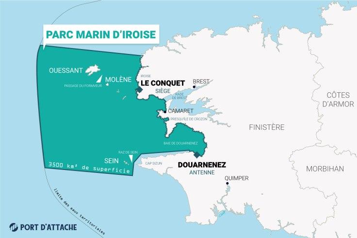 Le parc marin d'Iroise, 3500 km² de superficie