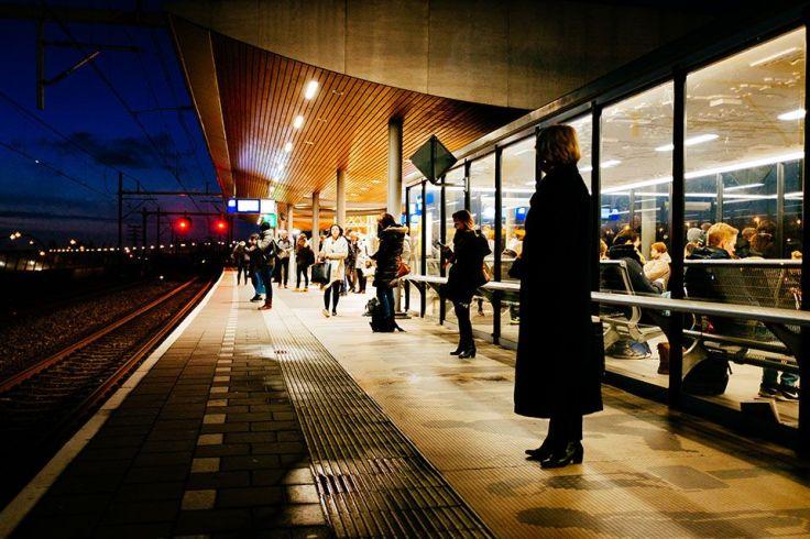 La gare ferroviaire en ville