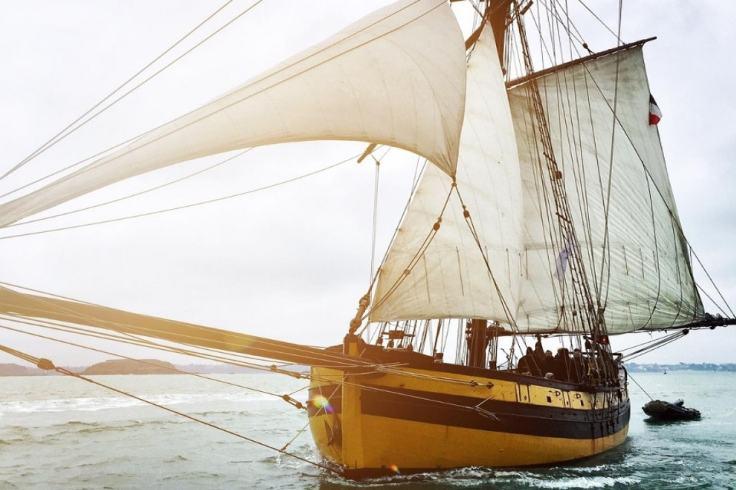 Brocken Back sur le bateau le Renard