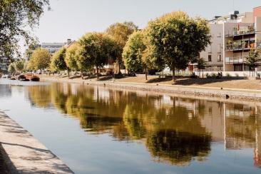 Se promener au bord de l'eau à Rennes