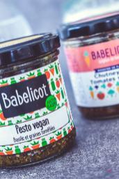 Petits pots de pesto et chutney Babelicot