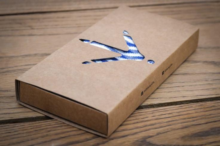 Emballage en carton pour des chaussettes bretonnes