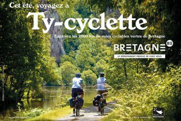 Cyclotourisme en Bretagne sur le canal de Nantes à Brest