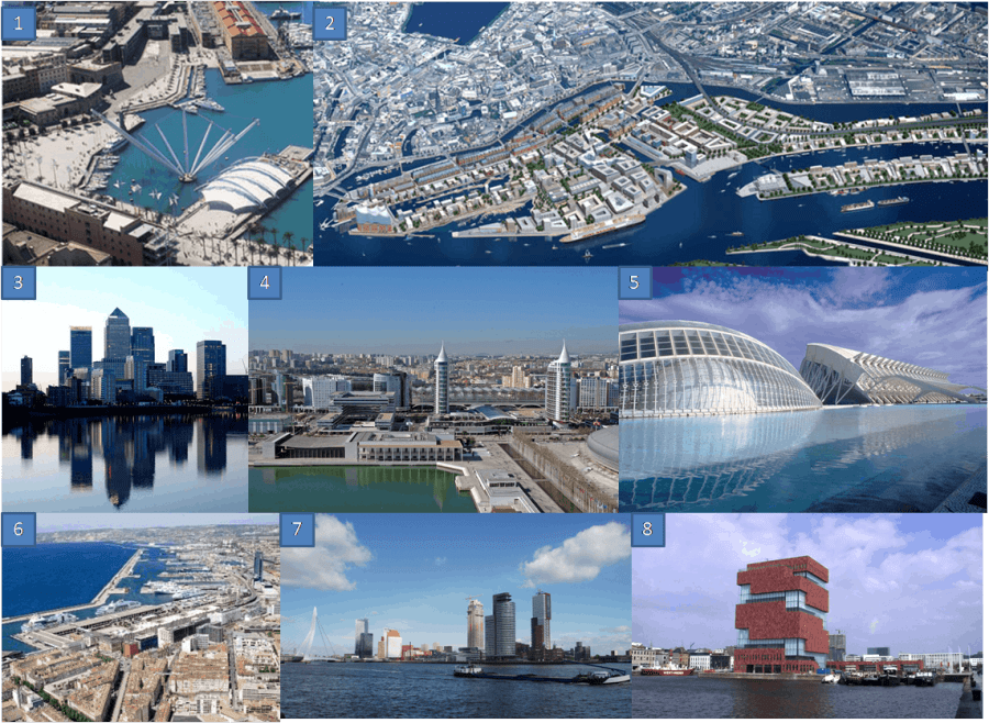 Examples of Waterfront Redevelopment Projects in Europe