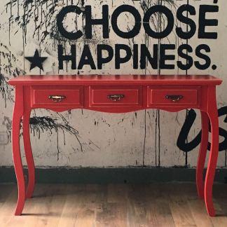 mesa de arrime rojo