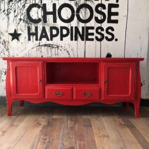 Mueble bajo TV vintage Hollywood XL Rojo