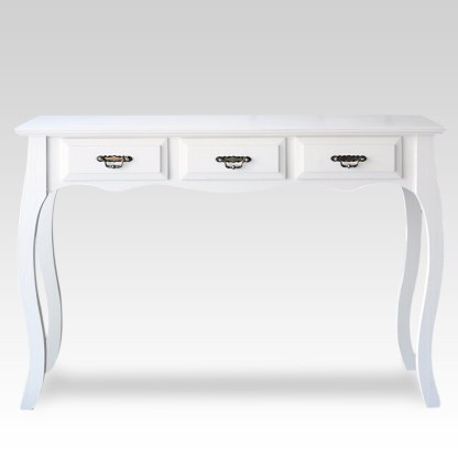 mesa de arrime escritorio vintage blanco