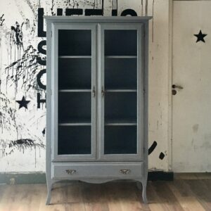 Mueble Aparador / Vitrina Londres Gris Cincel
