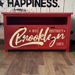 Mueble vintage Brooklyn estampado