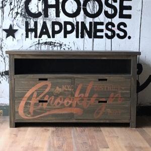 Mueble vintage Brooklyn estampado Madera y Cobre