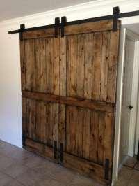 Knotty Alder Double Sliding Barn Door | Porter Barn Wood