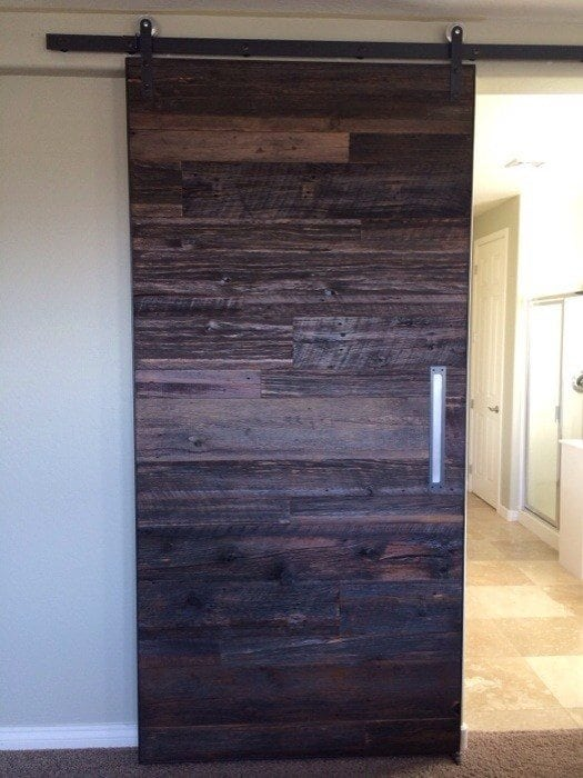 reclaimed wood kitchen shelves comfort mats hemlock 48x100 sliding barn door | porter