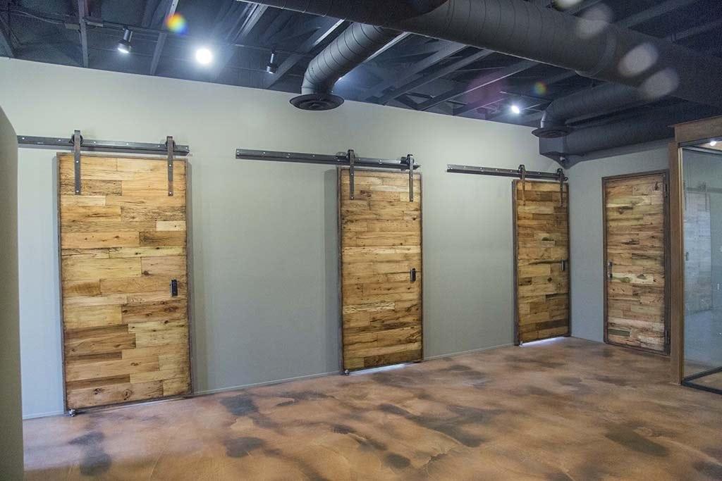 s project tobacco barn wood sliding barn doors hinged doors