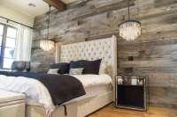 Tobacco Barn Grey Wood Wall Covering  Master Bedroom ...