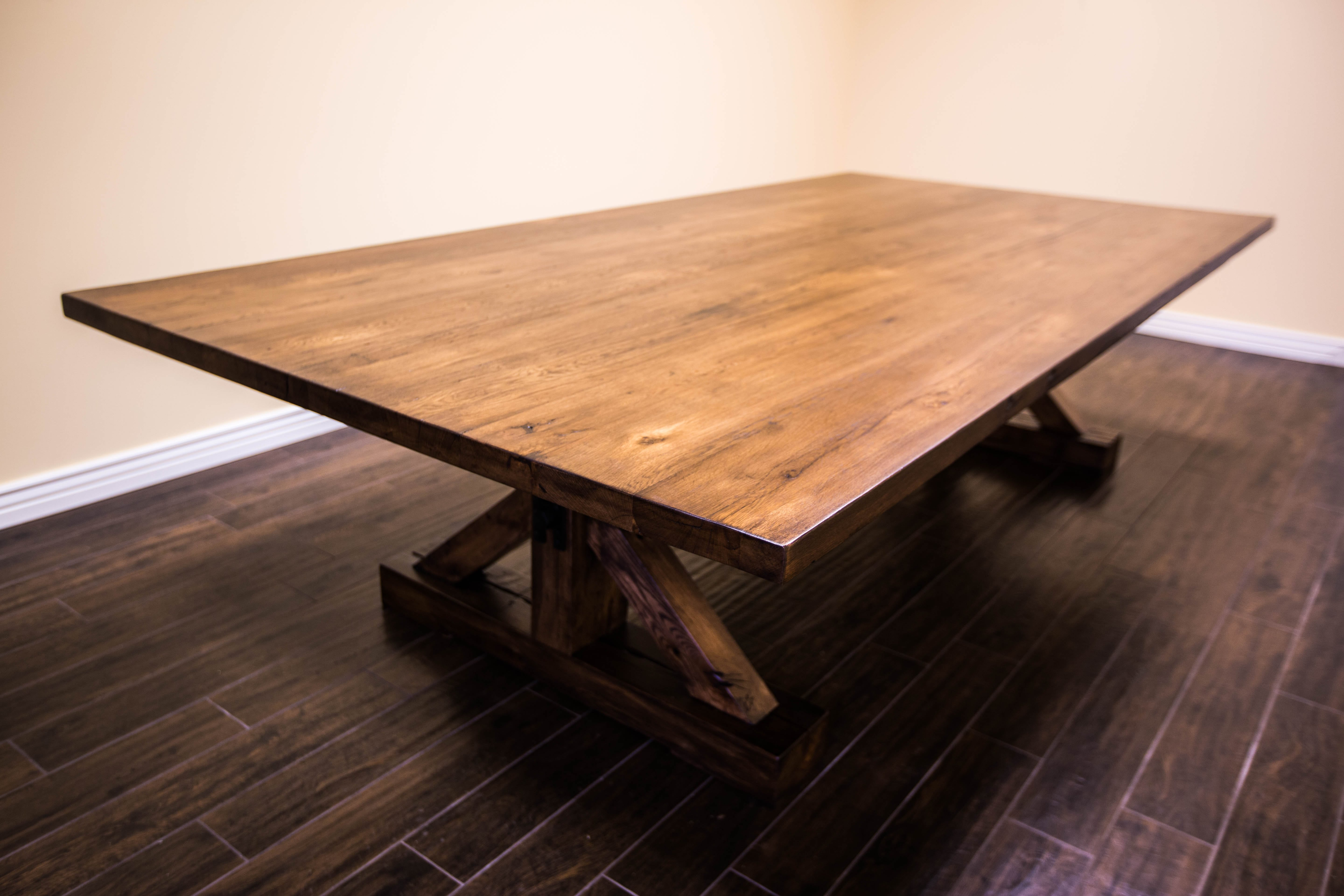 Parota dining table by ben wheatley tropical exotic hardwoods - Project X Base Reclaimed Hardwoods Break Room Diningconference Table